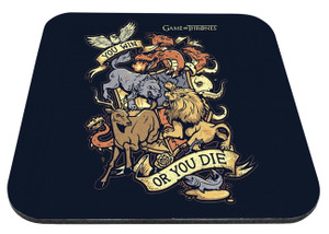 "Game Of Thrones - You Win Or You Die 9x7"" Mousepad"