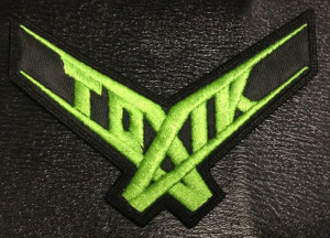 """Toxik Green Logo 4.5x4"""" Embroidered Patch"""