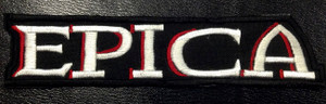 "Epica White/Red Logo 5x2"" Embroidered Patch"