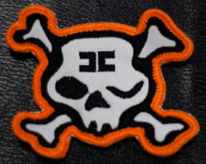 """Combichrist Skull Shaped Logo 3x2"""" Embroidered Patch"""