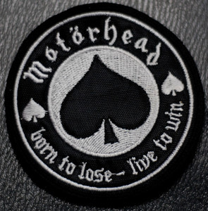 """Motorhead Born to Lose 4x4"""" Embroidered Patch"""