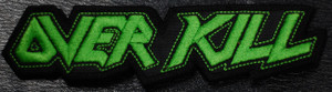 "Overkill Green Logo 4x1"" Embroidered Patch"