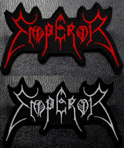 """Emperor Shaped Logo 4 x 2"""" Embroidered Patch"""