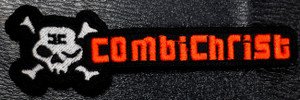 "Combichrist Skull + Typing 4x1"" Embroidered Patch"