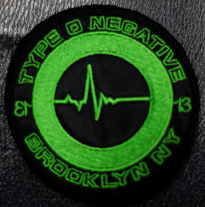 "Type O Negative Brooklyn NY 4x4"" Embroidered Patch"