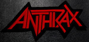 """Anthrax Logo 5x3"""" Embroidered Patch"""