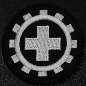 """Laibach Cross 4x4"""" Embroidered Patch"""