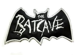 """Batcave Logo 4x3"""" Embroidered Patch"""