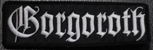 """Gorgoroth Logo 5x1.5"""" Embroidered Patch"""