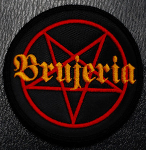 """Brujeria Pentagram 4x4"""" Embroidered Patch"""