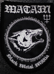 """Watain Black Metal Militia 3x4.5"""" Embroidered Patch"""