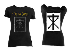 Christian Death Crucifix Logo Girls T-Shirt