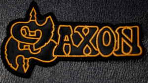 """Saxon Logo  4x2"""" Embroidered Patch"""