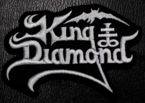"""King Diamond Logo 4x3"""" Embroidered Patch"""
