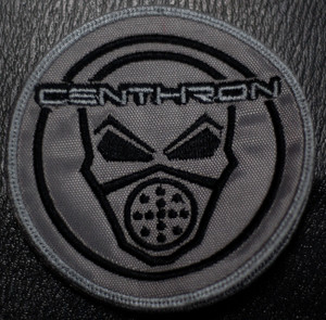 """Centhron - Gasmask 3.5x3.5"""" Embroidered Patch"""