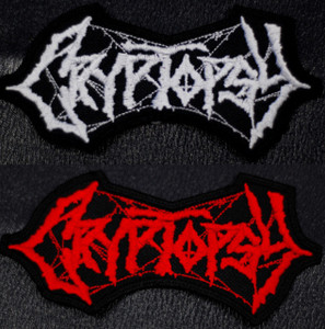 """Cryptopsy Logo 4x2.5"""" Embroidered Patch"""