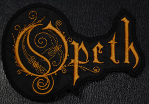 """Opeth Logo  5.5x4"""" Embroidered Patch"""