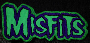"""Misfits - Green Logo 5x2.5"""" Embroidered Patch"""