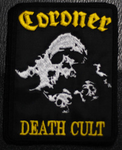 """Coroner Death Cult 4x5"""" Embroidered Patch"""