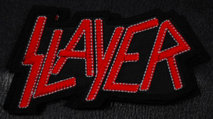 """Slayer Red Logo 4.5x3"""" Embroidered Patch"""