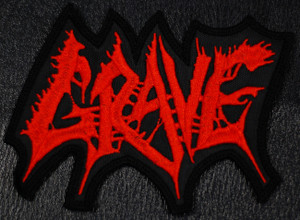 """Grave Logo  5x3"""" Embroidered Patch"""