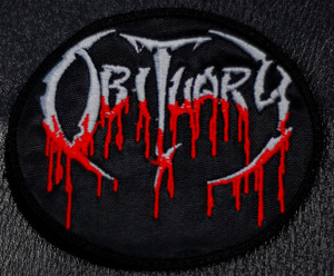 "Obituary Oval Logo 4.5x3"" Embroidered Patch"
