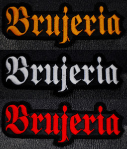 """Brujeria Logo 5x2"""" Embroidered Patch"""