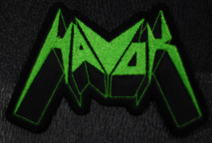 """Havok Logo  4x2"""" Embroidered Patch"""