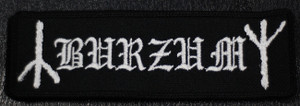 "Burzum Logo 5x1"" Embroidered Patch"