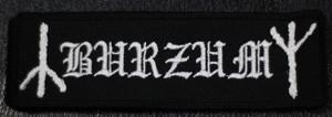 "Burzum Logo 5x1"" Embroidered Patch"