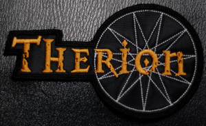 """Therion Logo 3.5x3.5"""" Embroidered Patch"""