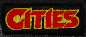 """Cities Red/Yellow Logo 4.5x1"""" Embroidered Patch"""