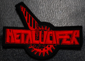 """Metalucifer Logo 4x2"""" Embroidered Patch"""