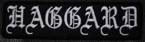 """Haggard Logo 6x1.5"""" Embroidered Patch"""