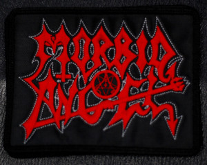 """Morbid Angel Red Logo 5x4"""" Embroidered Patch"""