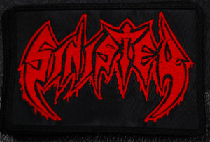 """Sinister Logo 5x3"""" Embroidered Patch"""