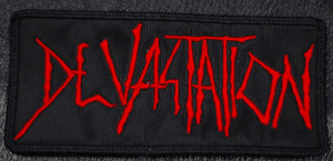 "Devastation Logo 5x2.5"" Embroidered Patch"