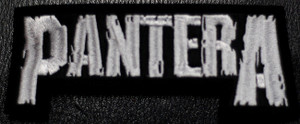 "Pantera Logo 4x2"" Embroidered Patch"