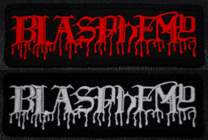 "Blasphemy - Logo 5x2"" Embroidered Patch"