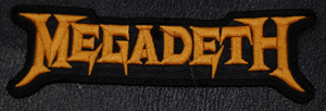 """Megadeth Logo 5.5x2"""" Embroidered Patch"""