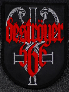 """Destroyer 666 Coat of arms 4x5"""" Embroidered Patch"""