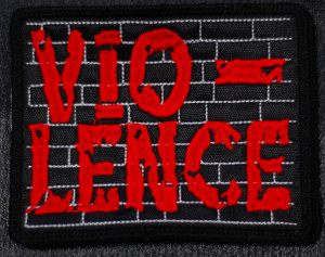 """Vio-Lence Red Logo 4.5x4"""" Embroidered Patch"""