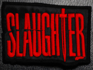 "Slaughter Red Logo 4x3"" Embroidered Patch"