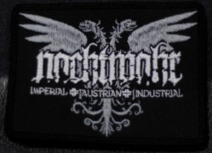 """Nachtmahr Eagle Logo 4x3.5"""" Embroidered Patch"""