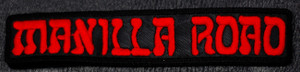 """Manilla Road - Red Logo 6x1"""" Embroidered Patch"""