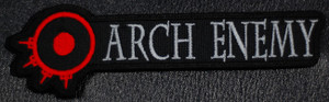 "Arch Enemy Red/Grey Logo 5.5x2"" Embroidered Patch"