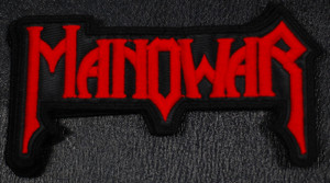 """Manowar Logo 4x3"""" Embroidered Patch"""