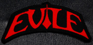 """Evile Red Logo 4.5x3"""" Embroidered Patch"""