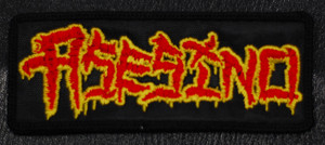 "Asesino Red/Yellow Logo 4.5x1.5"" Embroidered Patch"