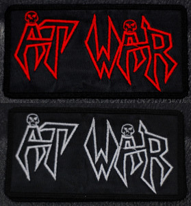 """At War Logo 4.5x3"""" Embroidered Patch"""
